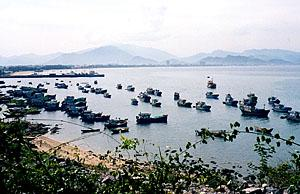Across the bay from Nha Trang City