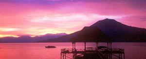 Sunset over Lake Ranau