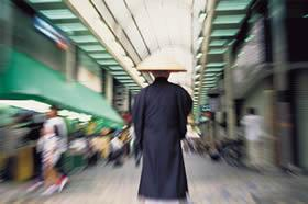 Buddhist monks in traditional robes can be seen walking the streets of Japan's metropolitan cities every day. Along with Shintoism, Zen Buddhism is one of two major religions that coexist in Japan. Each serves its own realm, with Shintoism relating to nature, ancestry and earthly matters, while Buddhism presides over spirituality and the afterlife.