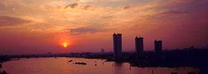 Sunset over the Chao Phraya