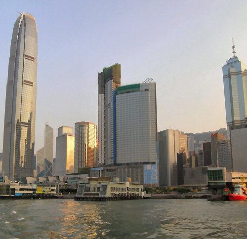 This shot was taken on a one of our increasingly rare good-air days from the ferry heading to Lamma Island.