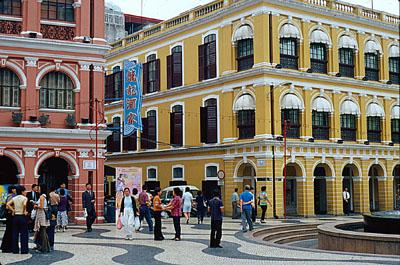 Square in the old quarter of Macau.