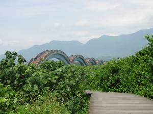 The eight fairies bridge, perhaps the best known tourist attraction on Taiwan's East coast