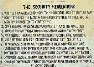 The Security Regulations of Tuol Sleng Prison.