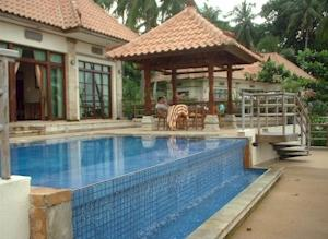 View of the private pool