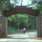 Entrance to Cuc Phuong National Park, an island of primary forest enclosed in a natural basin between two craggy limestone ranges