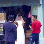 Wedding photos in Little India.