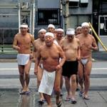 On the second Sunday of the New Year, wearing nothing more than loincloths called shitaobi and headbands called hachimaki, many Japanese men brave the icy waters of Teppozu Inari Jinja, a Shinto shrine in central Tokyo, to practice a yearly purification ritual.