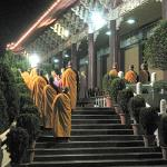 Ceremony re-affirming vow of vegetarianism at the Fokuangshan Monastery.