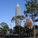 Grand Hyatt building on a clear day in Pudong