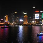 Night lights of Pudong Shanghai