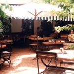 Hoa Sua restaurant. Outside on the patio.