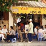 Café street scene in Hanoi