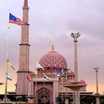 The Mosque at Putrajaya, Malaysia.