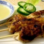 Chicken Skewers with Lime Coconut Dipping Sauce