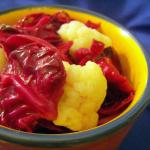 Pickled Red Cabbage with Cauliflower Florettes