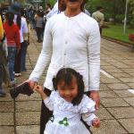 Grandmother and Grandaughter at Ho Chi Minh's tomb