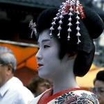 A Geisha at Sanja Matsuri, one of Tokyo's liveliest and most widely-attended festivals