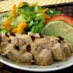 Asian Salad with Grilled Pork Loin