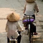 The ladies with conical hats are a classic feature on Vietnam's streets
