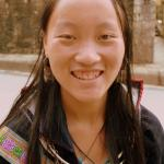 Grinning H'mong Girl