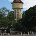 This water tower in the city park along the Ca Ty is the symbol of Phan Thiet City.