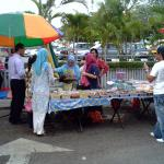 It is common to see many stalls like these selling Malay dishes and rice.