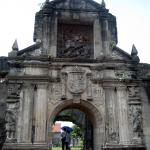 The gate to Intramuros. Intramuros is part of the old city of Manila. It is an old fort town which was used to be located by the sea and served as the dwellings for the Spanish colonizers. Today it becomes a historical site to commemorate the national hero, Jose Rizal.
