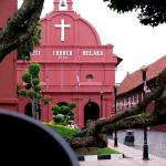 Christ Church Melaka, 1753. Come here for English Sunday Service at 8am.