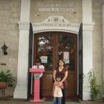 My girl and I outside the Footwear Museum in Marikina City where former Philippine First Lady Imelda Marcos' shoes are displayed.