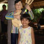 My daughter Kancana Preetika at the entrance to Villa Escudero