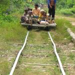 Cambodian ingenuity at its best - the Bamboo Train or Norry.