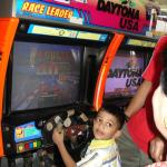 My son at the video game room