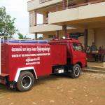 The fire truck at the station in Ban Lung, Ratanakiri Province, Cambodia for the ceremony Nov. 9, 2007.