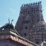 Main gopuram, Sri Ekambaresvara Temple.  Kanchipuram, India.