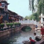 Canal life in Lijiang Old Town. Lijiang, Yunnan, China.