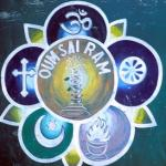 Rumtek, Sikkim, India: This truck sign pays homage to the world's  five major religions.