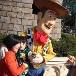 Sheriff Woody posing for photos, Tokyo Disneyland.