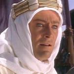 Peter O'Toole is Lawrence of Arabia