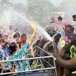 Songkran festival or Thai New Year in Chiang Mai Thailand