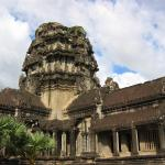 Ancient Angkor Wat temple in Siem Reap.