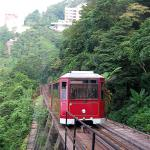 Take the tram to the top of Hong Kong's Victoria Peak.