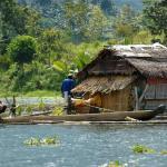 Philippines, Mindanao, Lake Sebu Fishermans cottage.