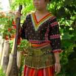 Philippines, Mindanao, Tboli girl with Instrument