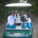 The golf caddies on the Nirwana in Bali course are experts.