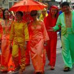 Philippines, Mindanao, Koronadal city, lovely people in Tnalak parade