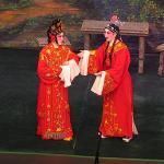 Cantonese opera singers performing