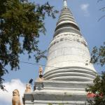 Views of the main stupa said to contain the remains of King Pohea Yat who moved the capital of Cambodia to Phnom Penh.