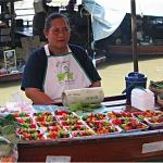 This fruit seller had a business on her boat