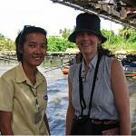 Charupa was my guide to discover the canals of Bangkok